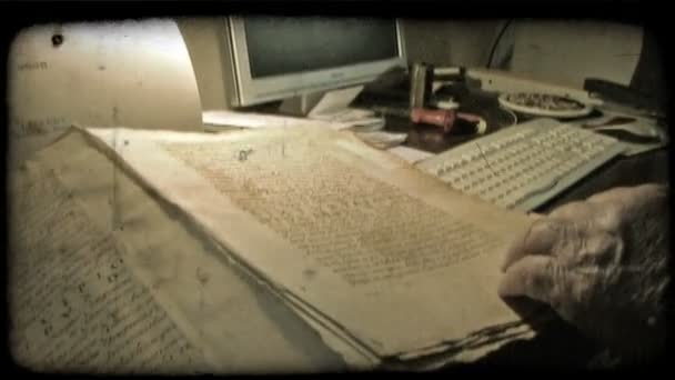 Old Documents. Vintage stylized video clip.