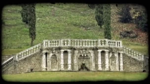 Stone Structure. Vintage stylized video clip.