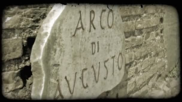 Rome Sign. Vintage stylized video clip.