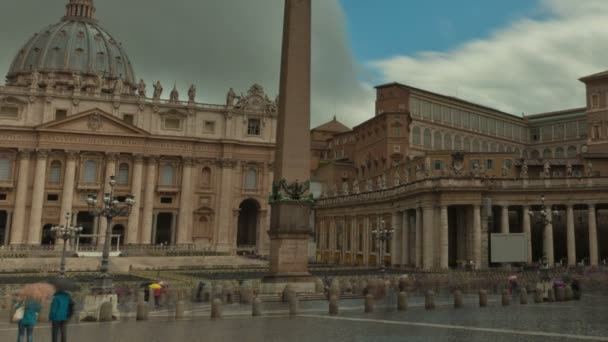 time-lapse of the Vatican Square.