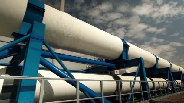 Pipeline-Stützen in einer Entsalzungsanlage