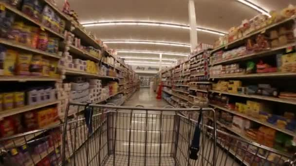 shopping cart in a large aisle