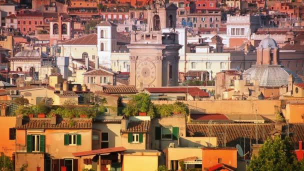 Rome rooftops skyline