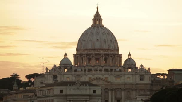 dome of St Peters Basilica at sunset