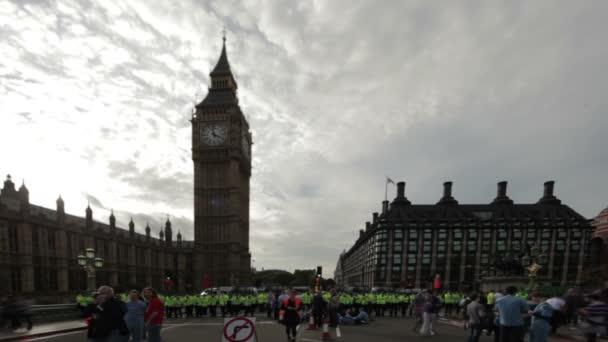 Protest na Westminsterském mostě v PM