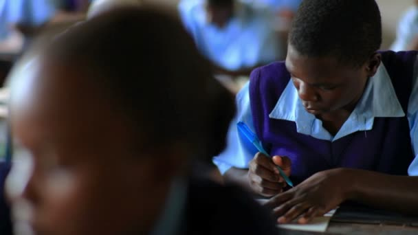 African Students taking a test