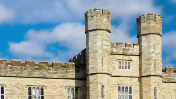 Clouds soar overhead of Leeds Castle