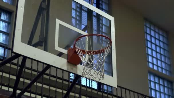 Detailní záběr z dokončeného basketbal shot