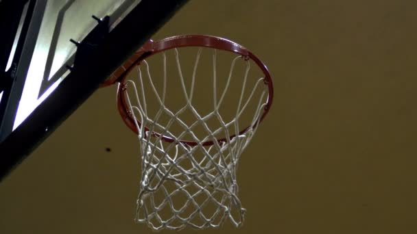 Zpomalený záběr nic než čistou basketbal shot