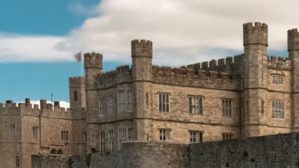 Clouds soar overhead of Leeds Castle