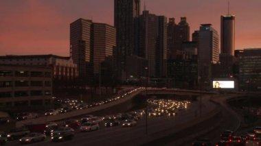 Atlanta Skyline With Traffic Below