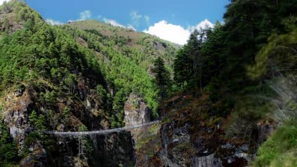 říční rokle v himálajských údolí