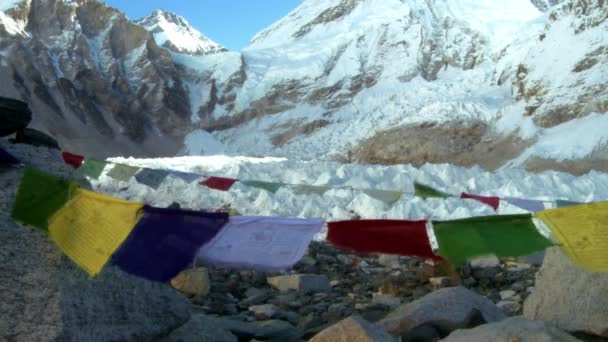 Mount Everest s buddhistické modlitební praporky