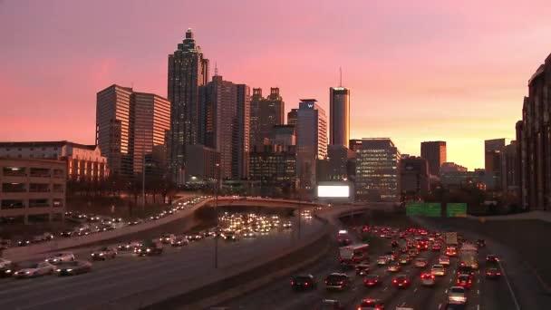 Atlanta Skyline with traffic below.