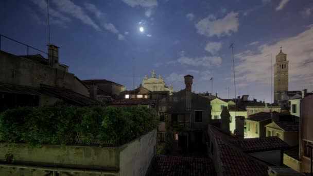 Roof tops of Venice time-lapse.