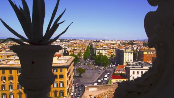 Footage of Piazza del Risorgimento from a rooftop