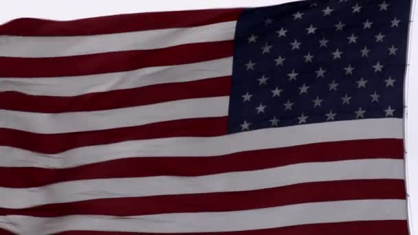 United States flag blowing in the breeze