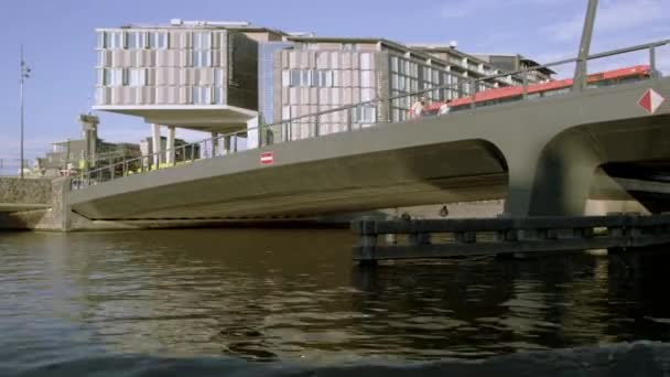 Tracking shot of Doubletree by Hilton Hotel in Amsterdam, Netherlands
