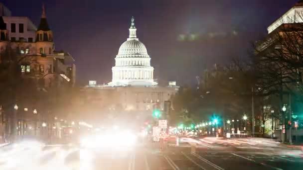 Časová prodleva Capitol nás v noci