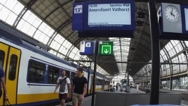 activities at train depot in Amsterdam