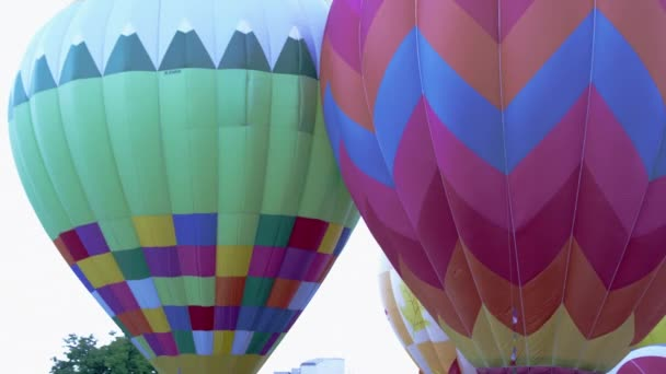 Hot Air Balloons In Utah Stock Video
