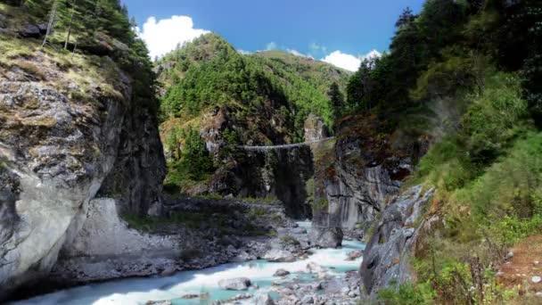 Time-Lapse říční rokle v himálajských údolí