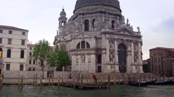 Santa Maria della Salute from canal in Venice.
