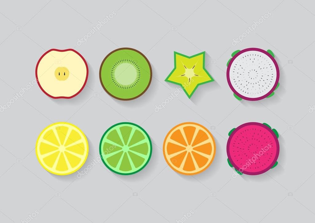Mixed slide fruits