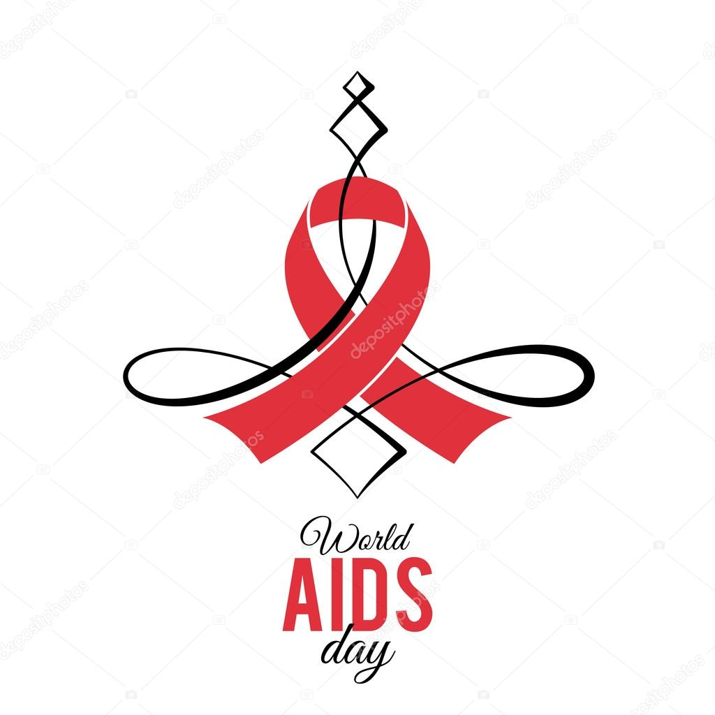 Design Illustration Concepts Symbol AIDS. Stop AIDS sign. AIDS red ...