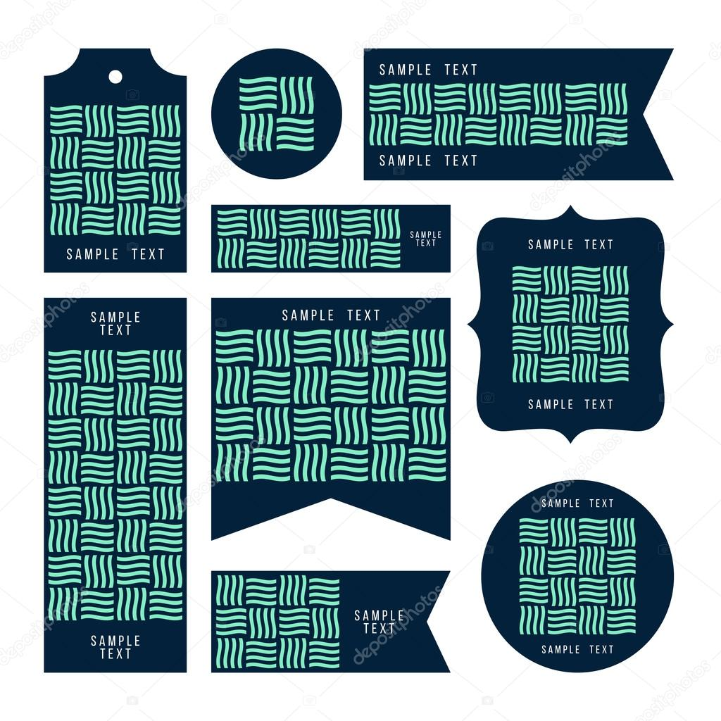 Colección de tarjetas de muestra texto, notas, etiquetas engomadas ...