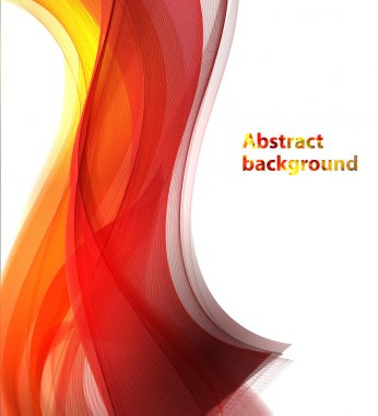 abstract wave shape background