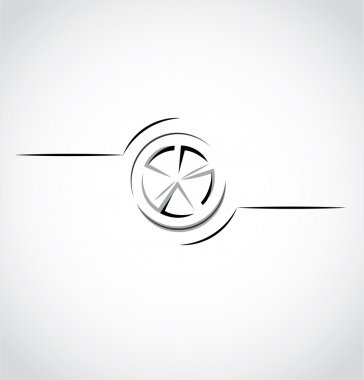 abstract car wheel, rim logo
