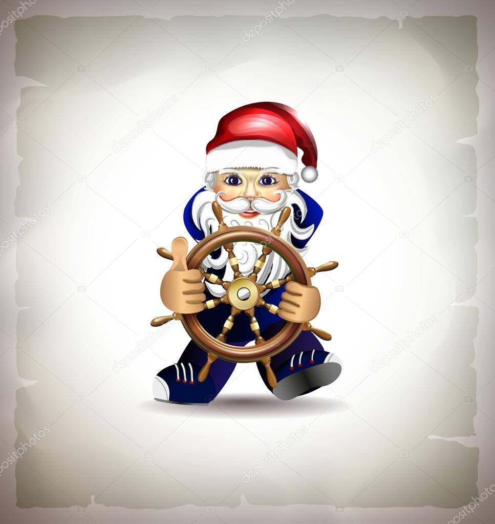 sailor dressed as Santa