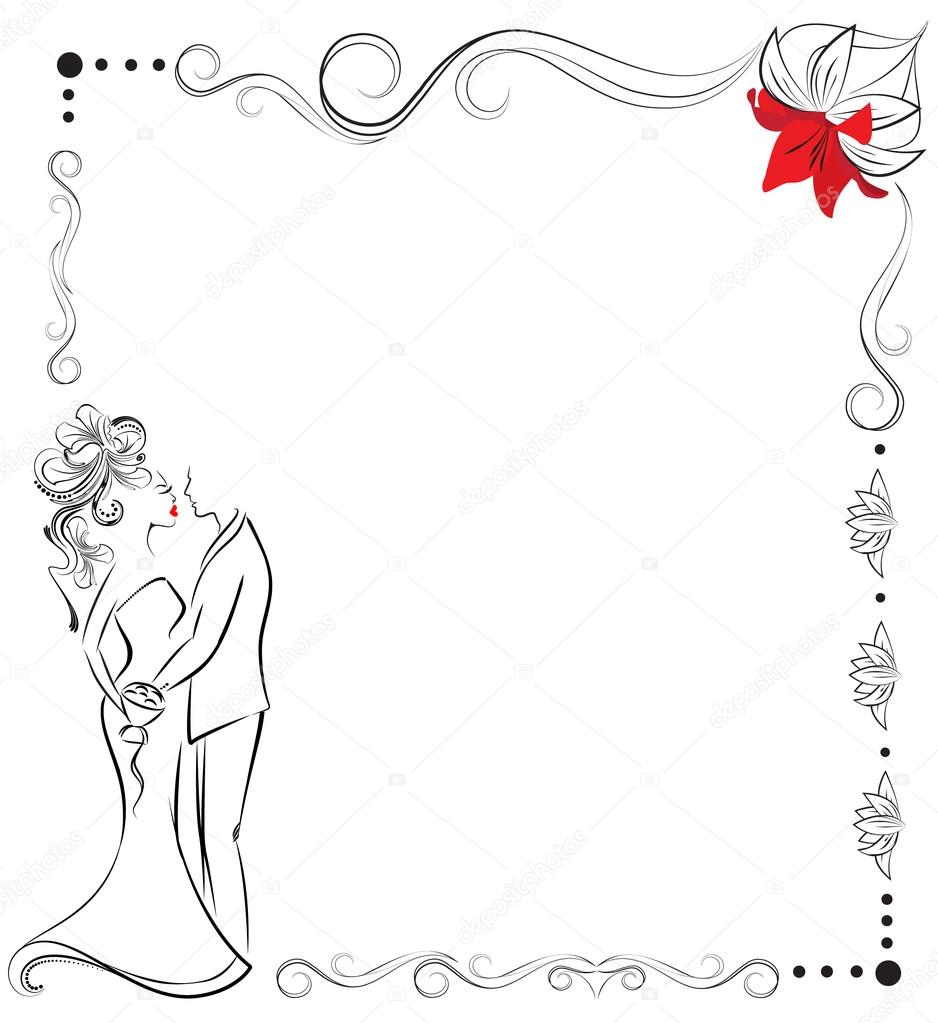 bride and groom, wedding invitation — Stock Vector © Anna_Maximenko ...