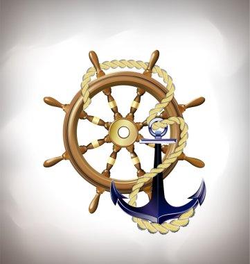 marine emblem, sea travel concept