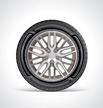 car wheel, icon