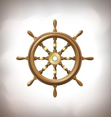 marine steering wheel sign