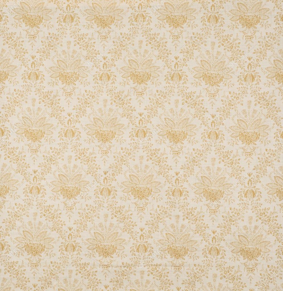 Yellow Floral Design Diagonal Pattern Wallpaper Swatch Stock
