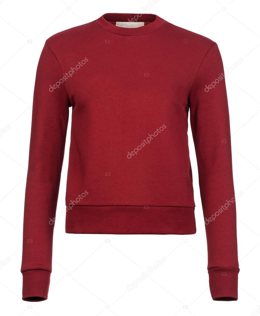 check out b5a5c 99d47 Ausschnitt des schlicht weinrot Damen Pullover Jumpers zum ...