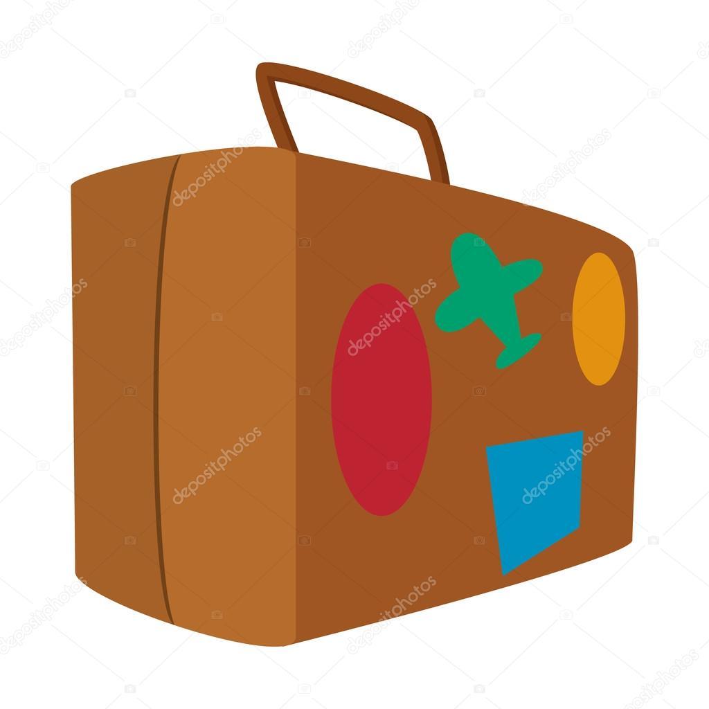 icono de dibujos animados de maleta de viaje marr u00f3n suitcase clip art etsy suitcase clip art transparent