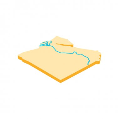Nile river icon, isometric 3d style