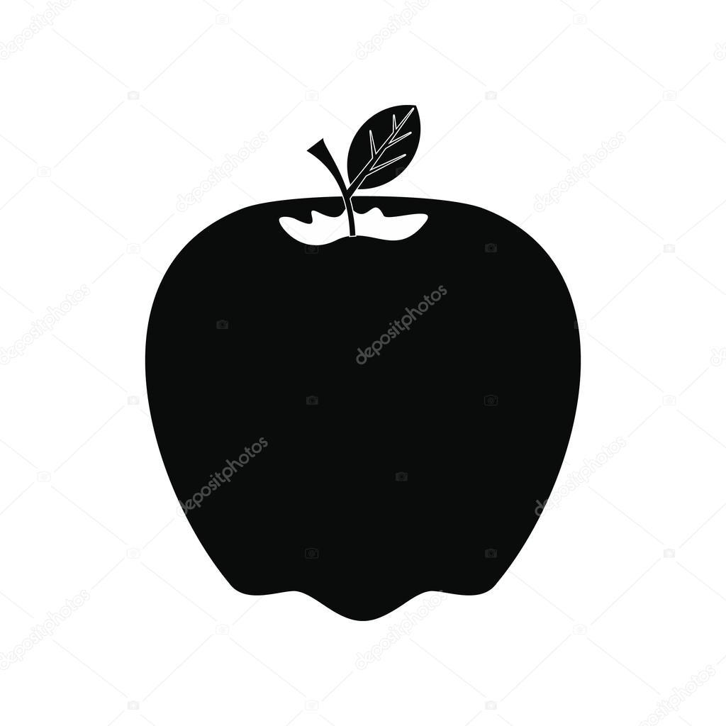 Cone da apple preto vetores de stock juliarstudio 100081844 cone da apple estilo simples preto no branco vetor de juliarstudio thecheapjerseys Images