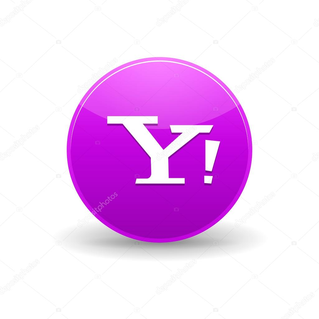 Yahoo Icon Simple Style Stock Vector Juliarstudio 100102048