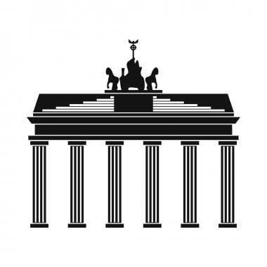 Brandenburg gate icon in simple style