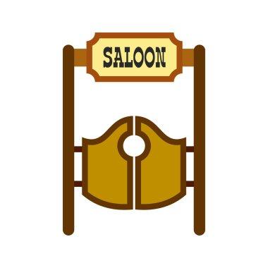 Old western swinging saloon doors icon