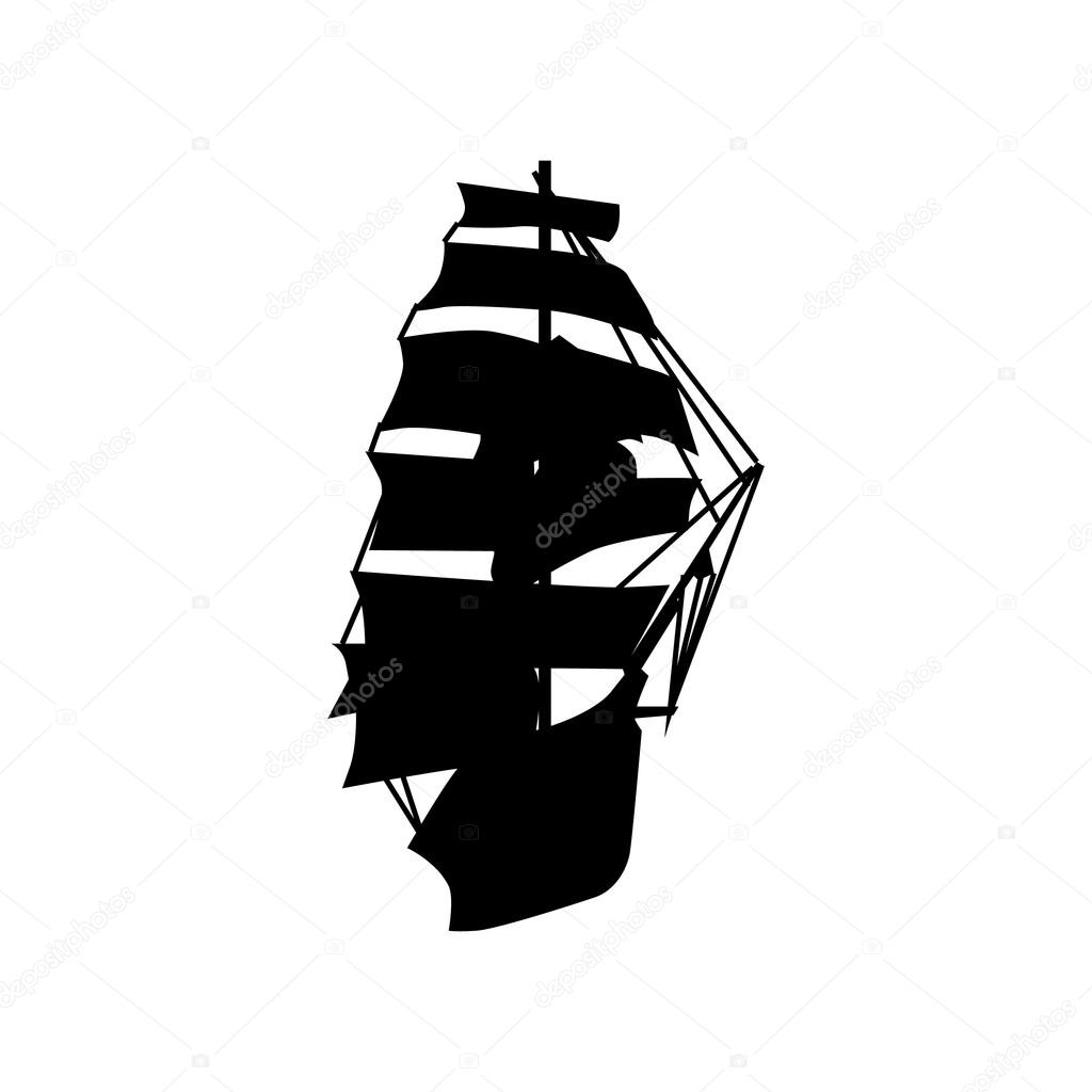 Sailing ship silhouette