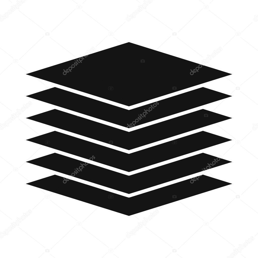 Icono de datos presentación plantilla, estilo simple — Vector de ...