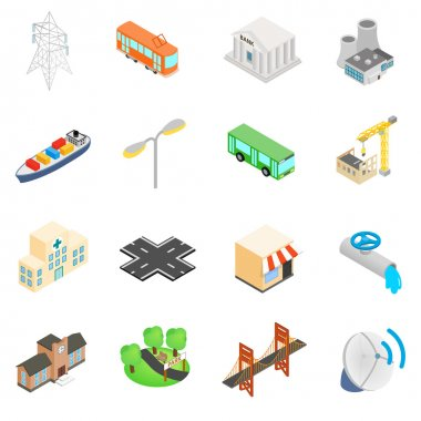 Infrastructure Icons set