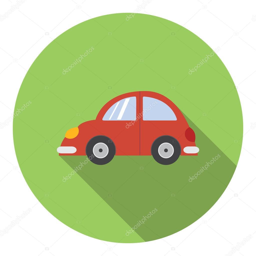 Rotes Auto-Symbol, flache — Stockvektor © juliarstudio #103400284
