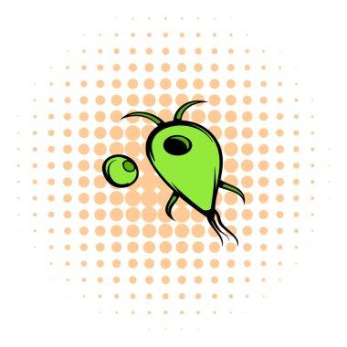 Virus icon, comics style
